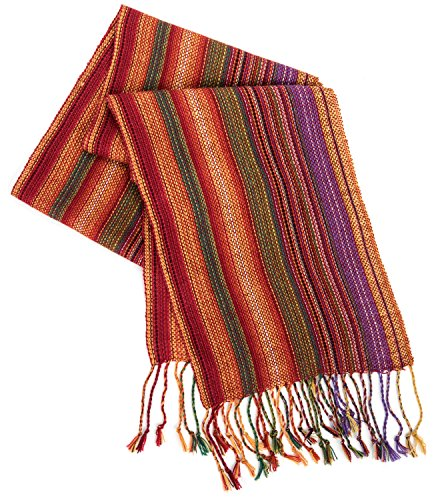 Strecken Women's HAND MADE 100% Alpaca Lightweight Shawl Scarf Fashion Accessory (Multicolor) ()