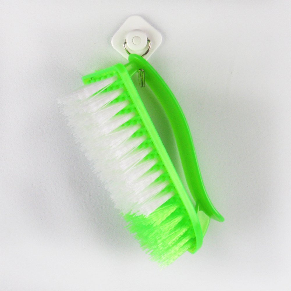 Sky Fish Laundry brush Cleaning Brush Plastic Handle Brush Bristle Brush Strong Laundry Brush Suitable to clean the clothes and shoes green