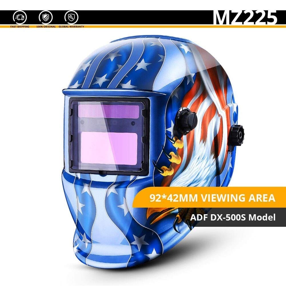 YUANYUAN521 Skull Solar Auto Darkening Adjustable Range 4/9-13 MIG MMA Electric Welding Mask/Helmet/Welding Lens for Welding Machine (Color : MZ225) by YUANYUAN521