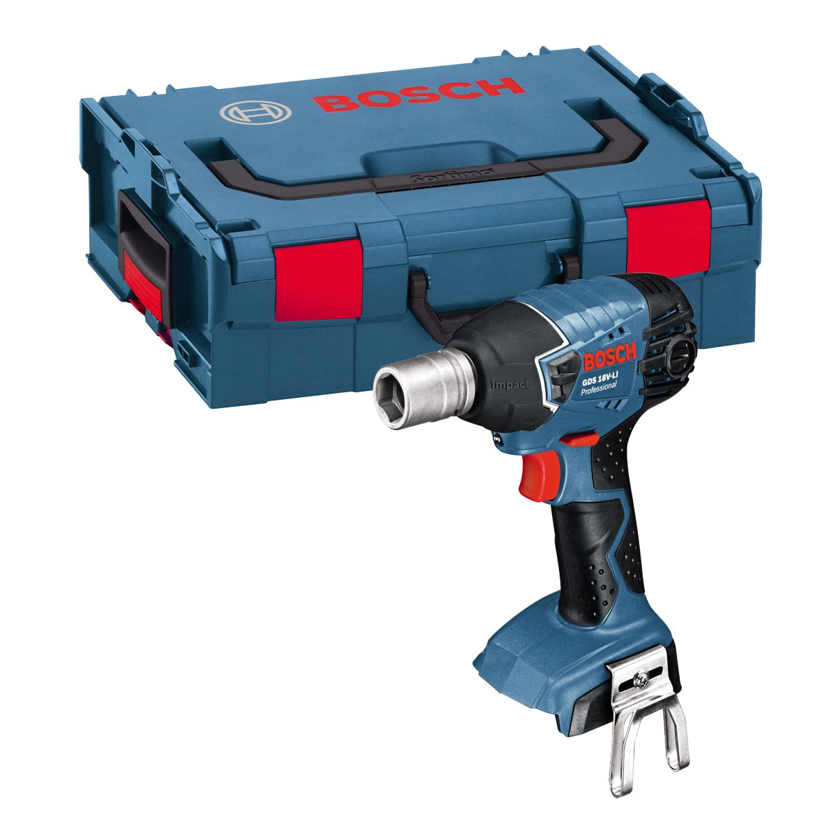 Bosch Professional GDS 18 V-LI Cordless Impact Wrench in Carton (Without Battery and Charger) - Carton GDS18VLIN