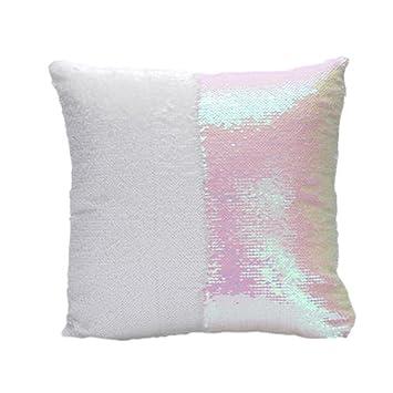 TraveT Magic Swipe Pillow Glitter Sofa Cushion Cover Pillow
