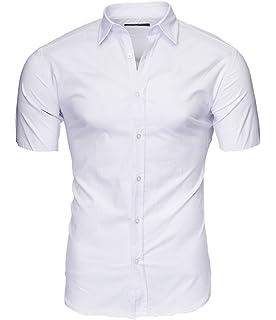 Kayhan Hombre Camisa Manga Corta Slim Fit S M L XL 2XL - Modello Florida + Maimi: Amazon.es: Ropa y accesorios