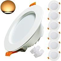 Kimjo Foco LED Empotrable 9W(equivalente 90W), Blanco Cálido 3000K 620lm Redondo Foco Empotrable LED Techo, 37mm…