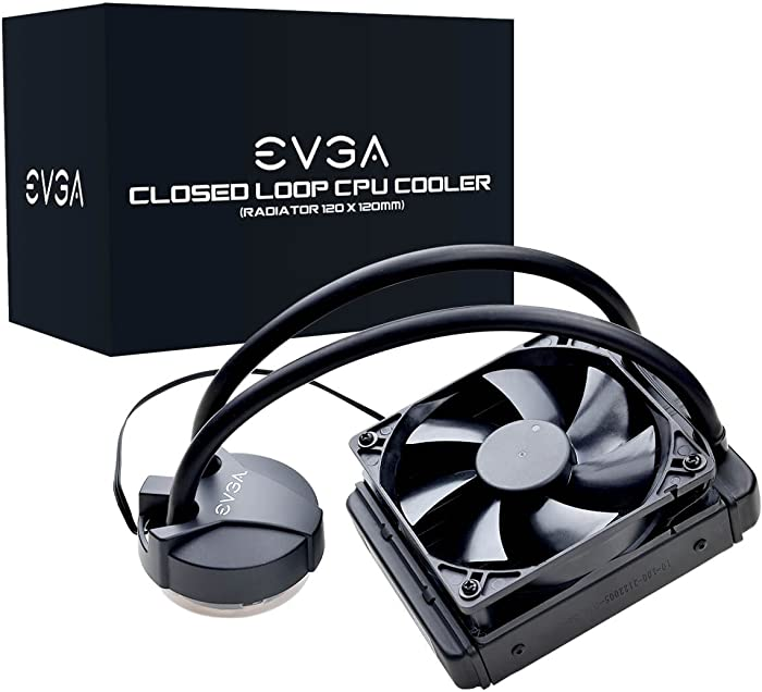 EVGA CLC 120mm All-In-One CPU Liquid Cooler, 1x 120mm Fan, Intel, 5 YR Warranty, 400-HY-CL11-V1