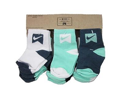 Nike de calcetines para bebé blanco negro verde gris, Whte/Green/Grey