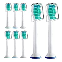 Sonicare Replacement Heads, Sonicare Toothbrush Heads For Phillips Sonicare Electric Toothbrush- Fits Plaque Control, Gum Health, DiamondClean, Flexcare, EasyClean, and HealthyWhite, 8 Pack