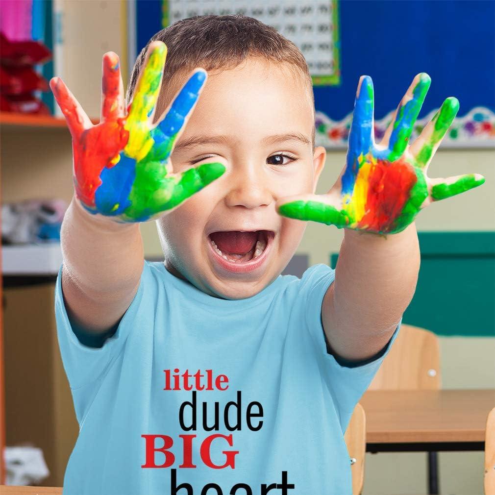Custom Toddler T-Shirt Little Dude Big Heart Funny Humor Boy /& Girl Clothes