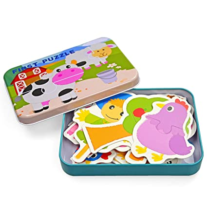Vileafy Flash Cards Puzzles for Kids Matching Puzzles (Flashcards-Farm Animals)