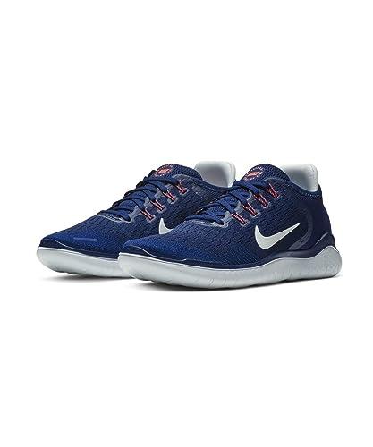 3a0671419f13 Nike Women s Free RN 2018 Running Shoe Blue Void Ghost Aqua Indigo Force  Size