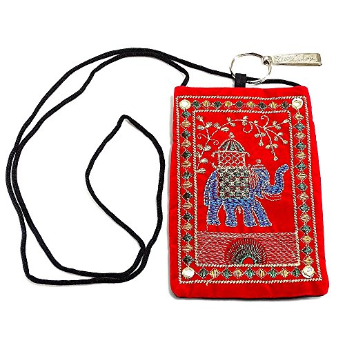 Indian Handmade Multi Color Embroidered Mobile Pouchs Bags Money Purses B 88