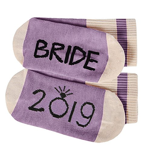 Womens Funny Socks Bride 2019 Fun Saying Novelty Crazy Crew Ankle Short Stocking (Best Bridesmaid Gifts 2019)
