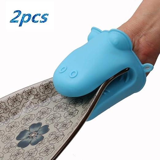 PXQCAO Oven Gloves Soporte de Olla de Silicona Mini mitón para ...