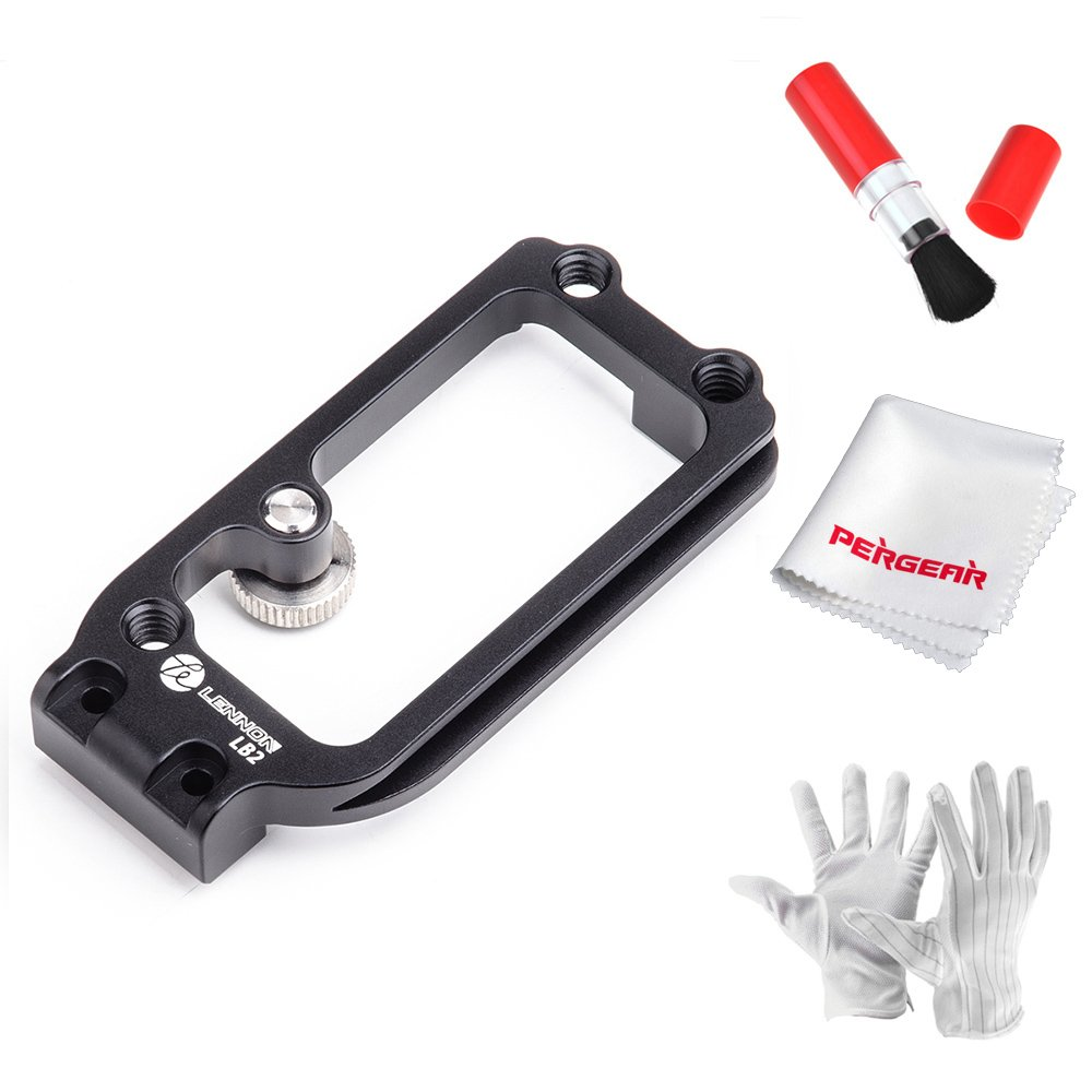 Lennon LB2 Handle Expansion Side Plate to Use with Lennon LB3 Quick Release L Plate Bracket Hand Grip for Sony A7II A7RII A7RIII A7SII A9 - Black by Lennon