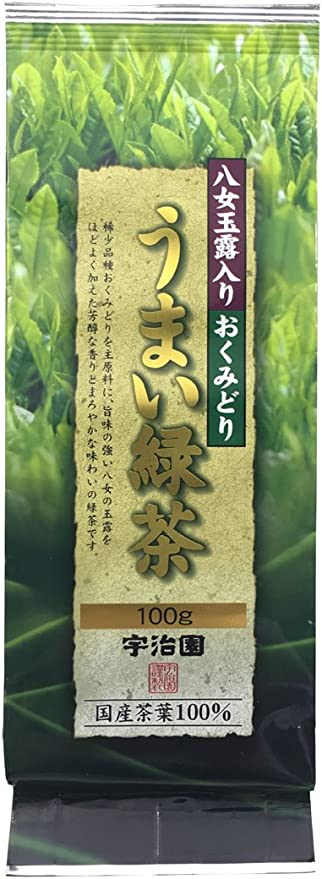 宇治園 八女玉露入うまい緑茶 100g