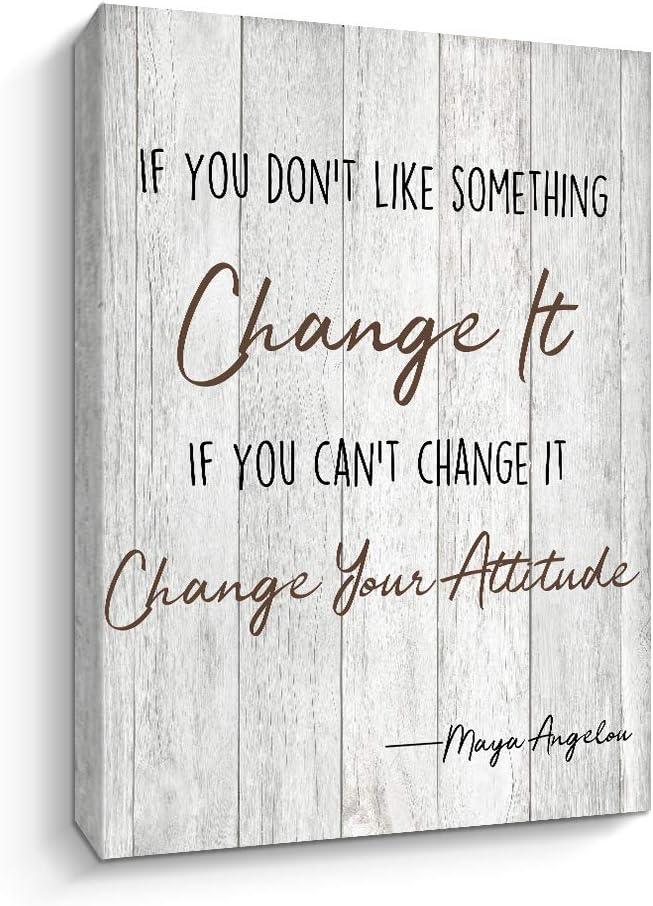 Maya Angelou Quotes Wall Art Motivational Canvas Print Home Office Wall Decor (Motto-E)