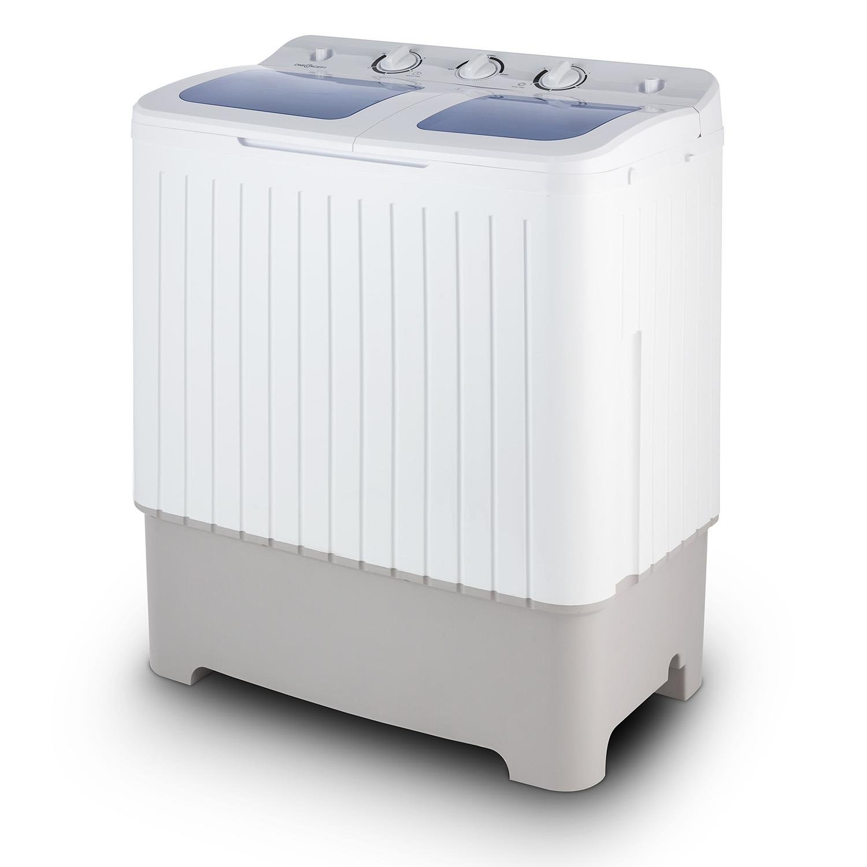 oneConcept Ecowash XL • Machine à laver • Mini lave-linge • avec essoreuse • Capacité de lavage de 4, 2 kg • puissance de lavage 300 W • Capacité d'essorage de 3 kg • Puissance d'essorage 110 W • blanc 4260435914419