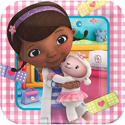 Doc McStuffins Lunch Plates (8 Count)