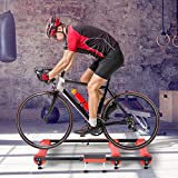 Soozier Adjustable Indoor Fitness Cycling Parabolic Roller Bike Trainer - Red