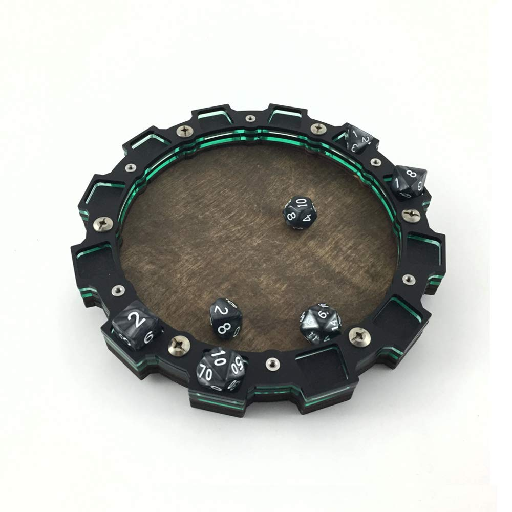 Dice Tray~Sprocket Design in Aqua Green for Gaming, Tabletop, RPG ~ C4Labs DIC-TRY-SPRKT-AQUA