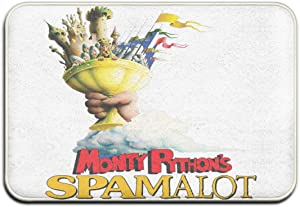 EVEKENNEDY Monty Python's Spamalot Doormat Entry Way Indoor Outdoor Kitchen Floor Bath Entrance Rug Mat with Non Slip Rubber Backing 15.74''X 23.62''