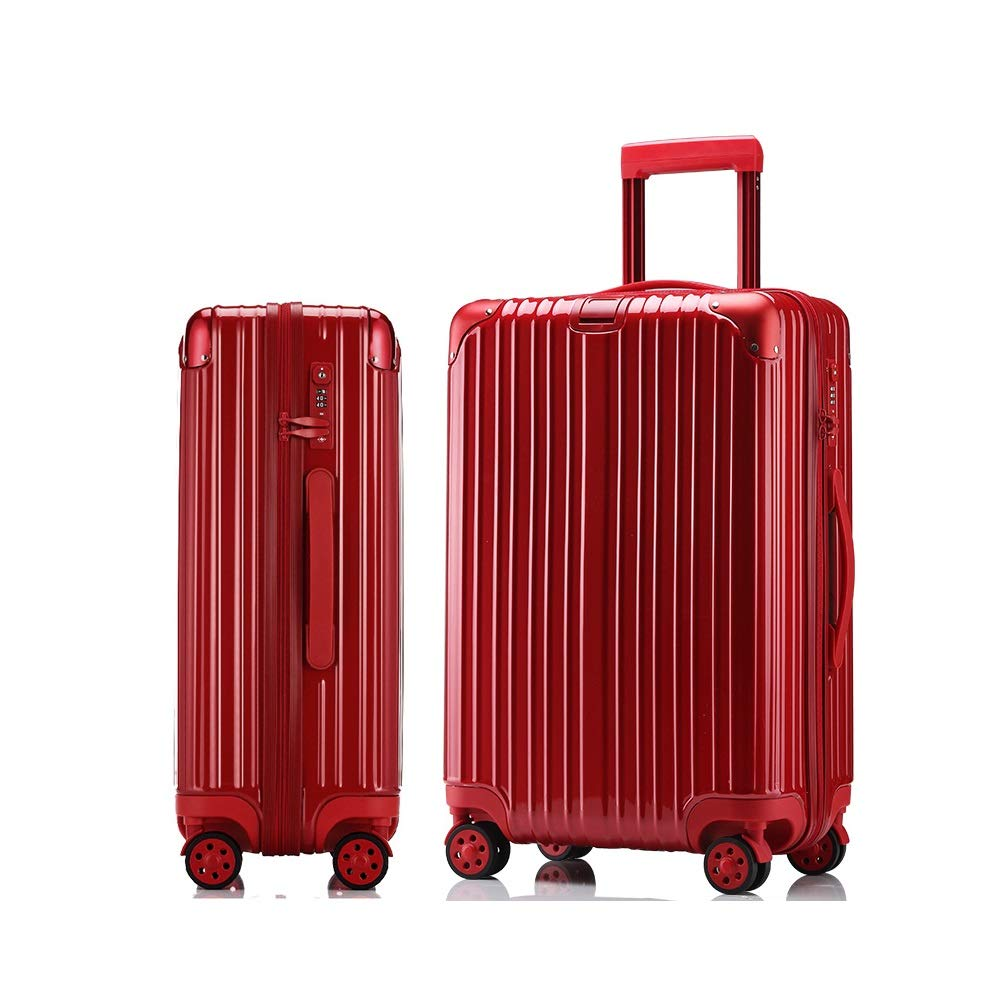 MinMin 紫、黒、赤、荷物スーツケースユニバーサルユニバーサルホイール搭乗トロリーケースファッション、64センチ×42センチ×26センチ 旅行スーツケース (Color : B, Size : 64cmX42cmX26cm) B07TYZLJQR B 64cmX42cmX26cm