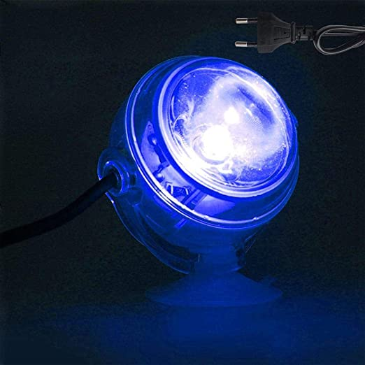 LED lámpara LED Submarina Impermeable UE Plug 220 V Acuario Luz arrecife Fish Tank sumergible Acuario