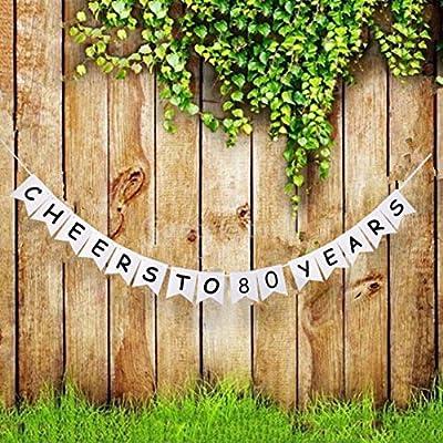 Anniversario Di Matrimonio Lingua Inglese.Striscione Con Scritta In Lingua Inglese Cheers To 80 Anni