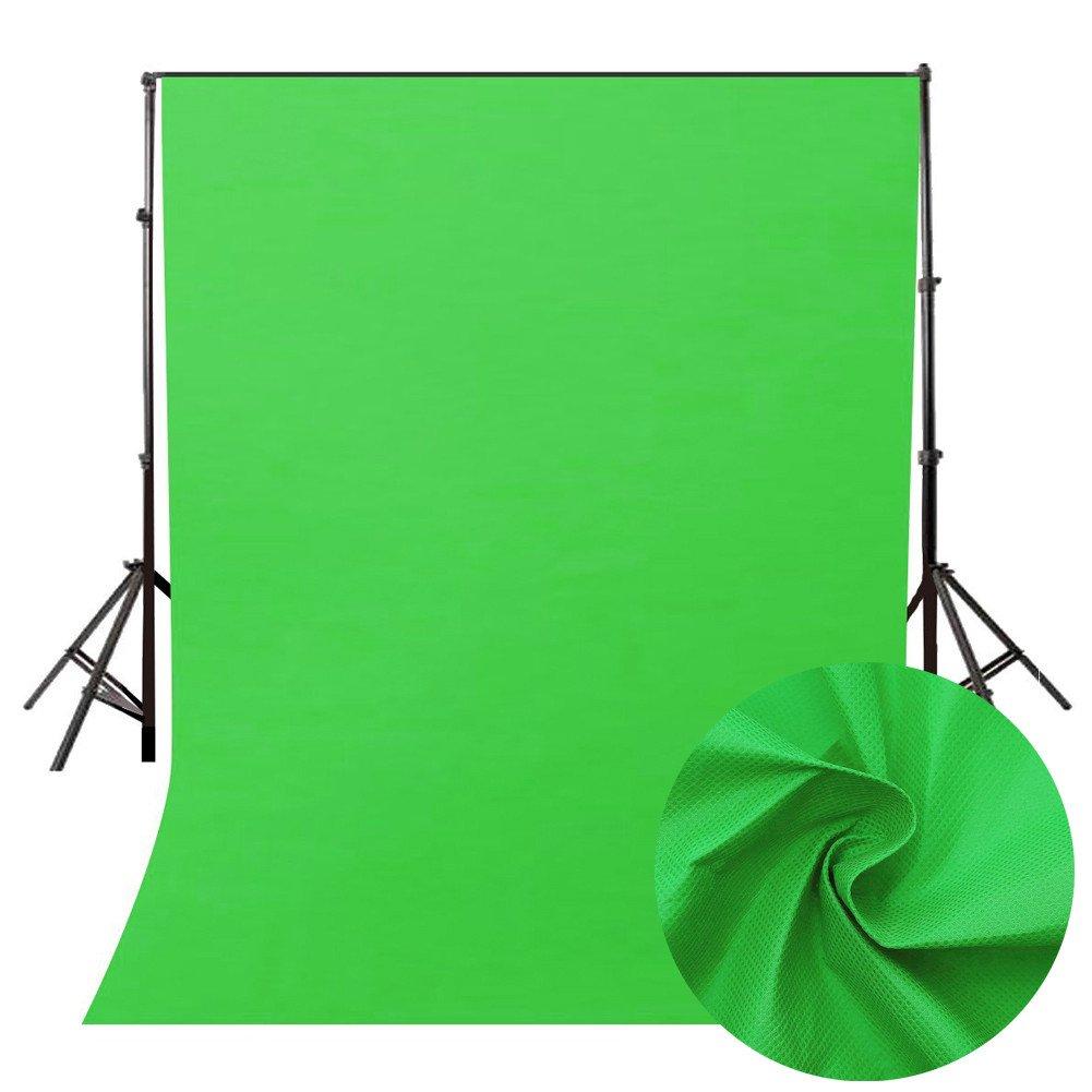 フォトバックグラウンド スーパーUS 写真スタジオ背景 ピュアカラー 写真撮影用背景 スタジオ小道具 160*200cm グリーン B07N5WZRR8
