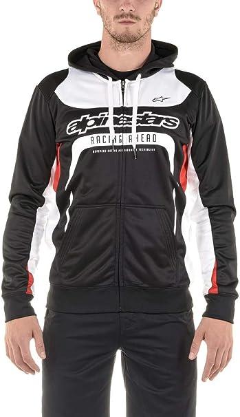 L Kapuzenjacke Alpinestars Stratified Fleece Jacket schwarz Gr