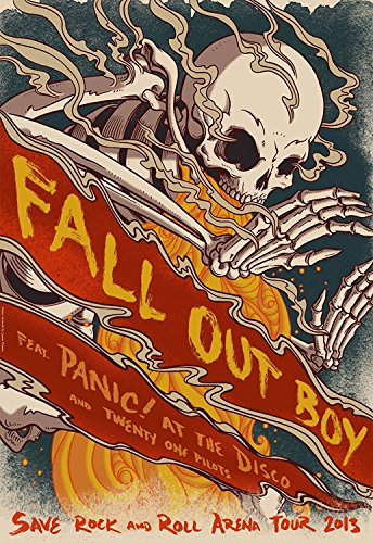 Fall Out Boy Fabric Cloth Rolled Wall Poster Print -- Size: (36