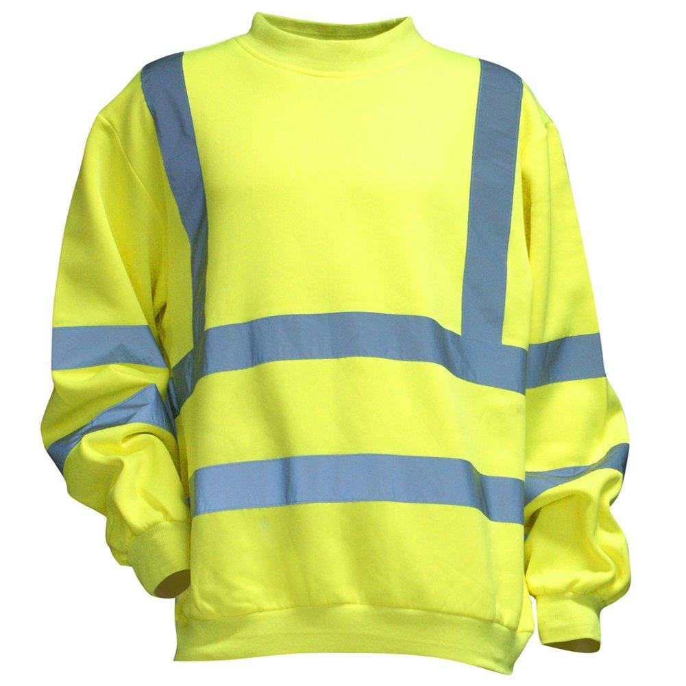 LMA 951900 ALARME Sweat Shirt Haute Visibilité , Jaune Fluo, Taille 3 Lebeurre