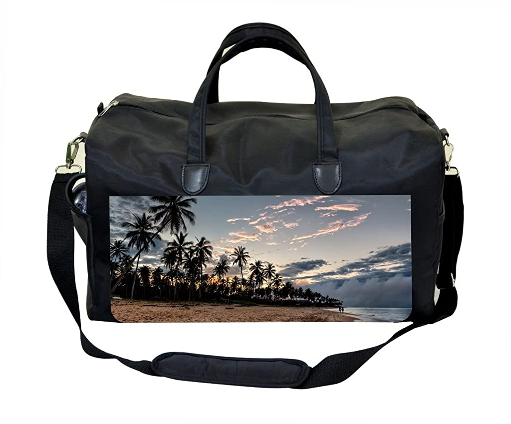 Palms Sunset Print Gym Bag