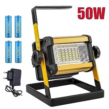 JZWDMD 50W LED Iluminación para Exteriores Lámpara de luz de ...