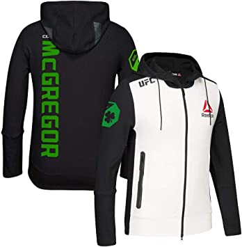 Reebok Conor McGregor UFC (BlackWhiteGreen) Fight Kit Walkout Hoodie Men's