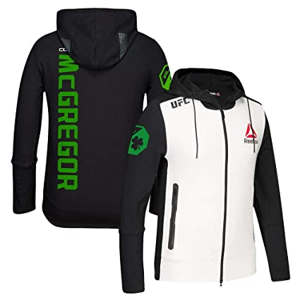 771c14b8e408a Reebok Conor McGregor UFC (Black/White/Green) Fight Kit Walkout Hoodie Men's