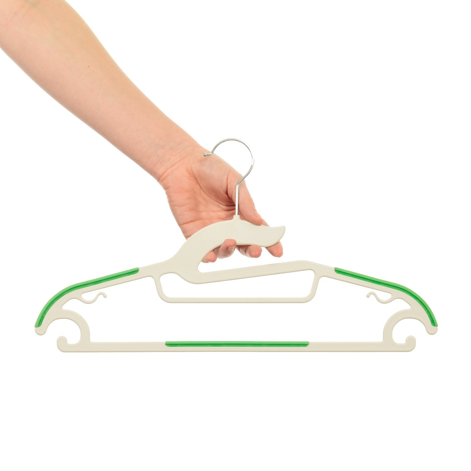 Slim Shape Saves Space Helps You Choose Your Clothes /& Look Your Best Set of 20 Summer Organize Your Closet Care for Your Clothes HOOKED Non Slip Clothes Hangers Strong ABS Plastic Won/'t Snap!