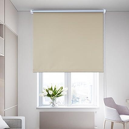 Tende Avvolgibili Oscuranti.Shiny Home Tende Avvolgibili A Rullo Oscuranti Isolanti Termiche E Solari Per Esterno 80x230cm Colore Beige
