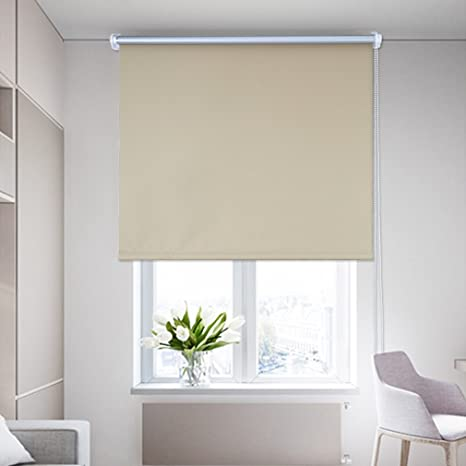 Tende Termiche Per Esterni.Shiny Home Tende Avvolgibili A Rullo Oscuranti Isolanti Termiche E Solari Per Esterno 100x230cm Colore Beige