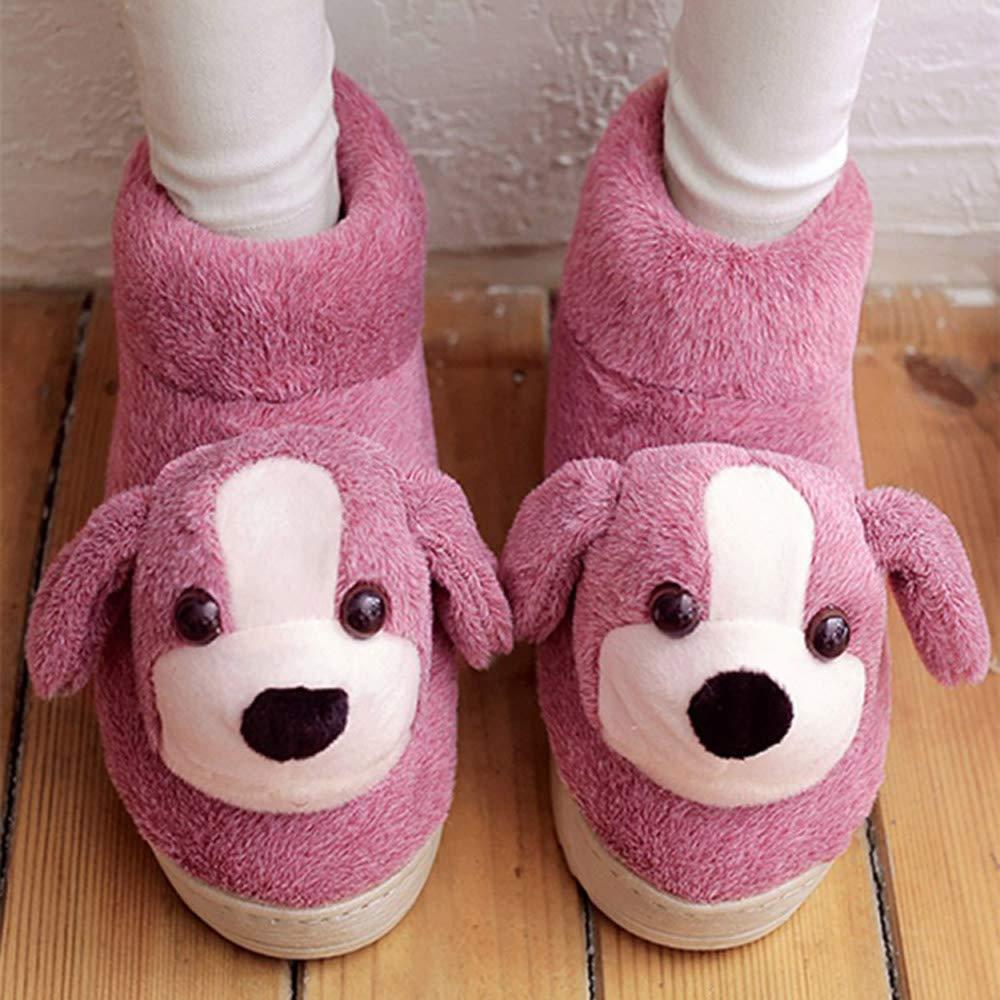Cómodo Zapatillas de invierno para mujer Todas envueltas con zapatillas de algodón. Parte inferior gruesa de los zapatos interiores antideslizantes (3 colores opcionales) (tamaño opcional) Aumentado