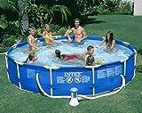 "Intex 12 x 30"" Metal Frame Set Swimming Pool with 530 GPH Filter Pump | 28211EG"