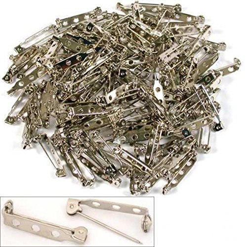 50 PiecesSilver Tone Brooch Pin Backs Safety Pin Jewelry Crafts- 1.5