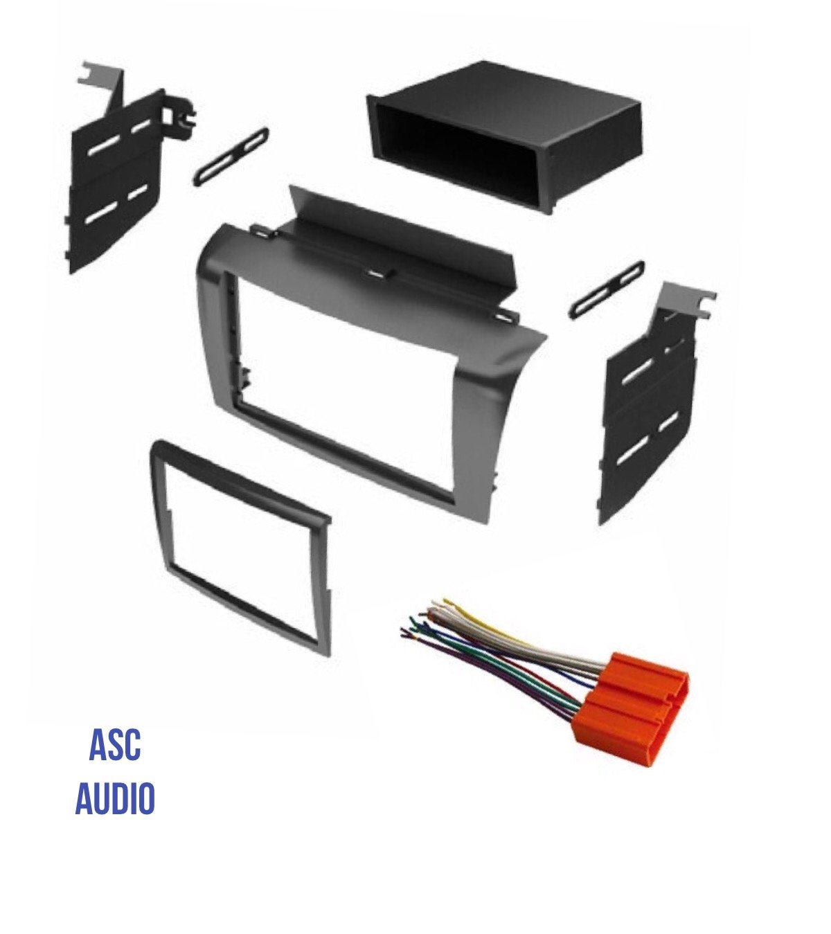 ASC Audio Car Stereo Radio Install Dash Mount Kit and Wire Harness for installing an Aftermarket Radio for 2004 2005 2006 2007 2008 2009 Mazda3 Mazda 3