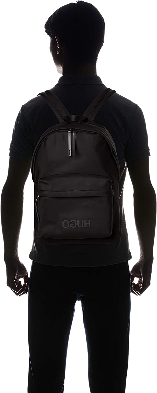 B x H T Noir 16x44x30 cm Black Sacs /à dos homme HUGO Record/_backpack