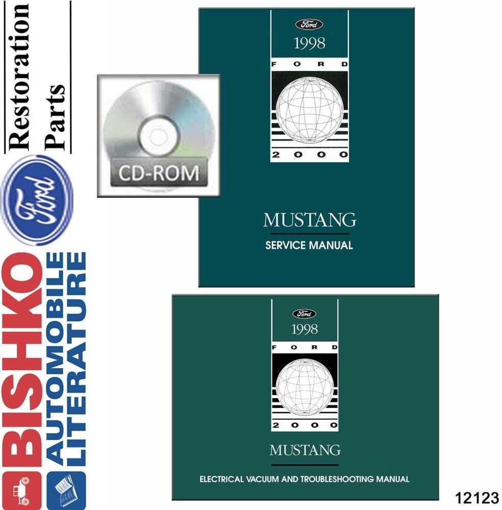Amazon.com: bishko automotive literature 1998 Ford Mustang Shop Service  Repair Manual CD Engine Drivetrain Electrical OEM: Automotive