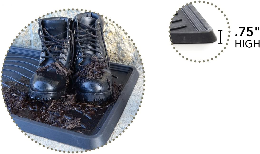 a Milliard Large Rubber Boot Tray or Mudroom Doormat 32x16; Rubber is Durable