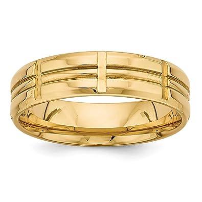 Amazoncom Roy Rose Jewelry 14K Yellow Gold Standard Comfort Fit