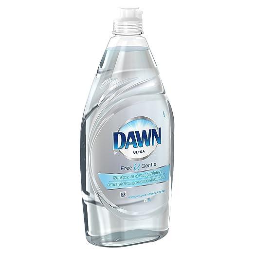 Dawn Free & - Jabón líquido para lavavajillas, brillante y húmedo ...