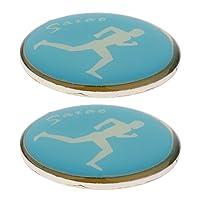 MagiDeal 2 Stück Schiedsrichter Wählmarke für Fußball Badminton Tischtennis - 3,5 cm