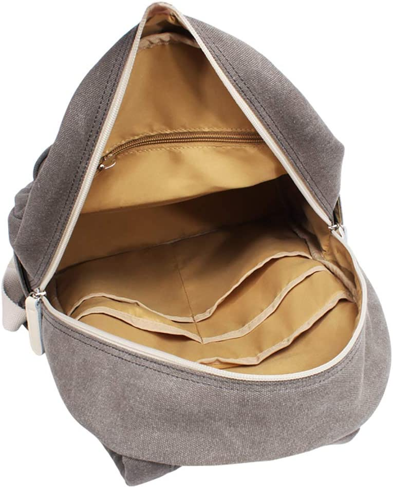 CIFFOST Unisex Vintage Canvas Backpack Satchel Rucksack Daypack Shoulder School Bag