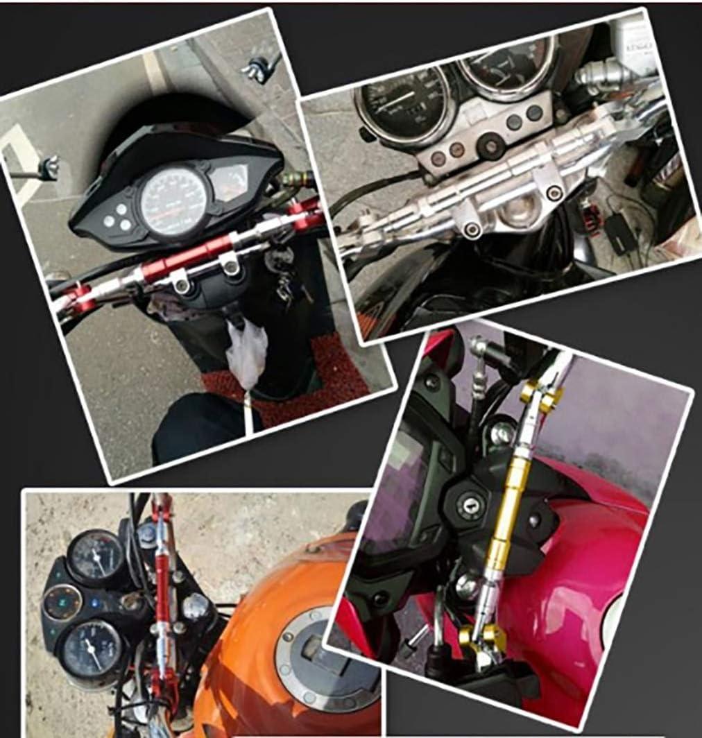 22mm Barre Universelle de Guidon Moto Barre de Renfort CNC Barre d/équilibre//Guidon r/églable Moto Barre transversale//Guidon Barre transversale Levier de Force de Volant Accessoires Moto